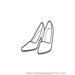 Women Shoes coloring page