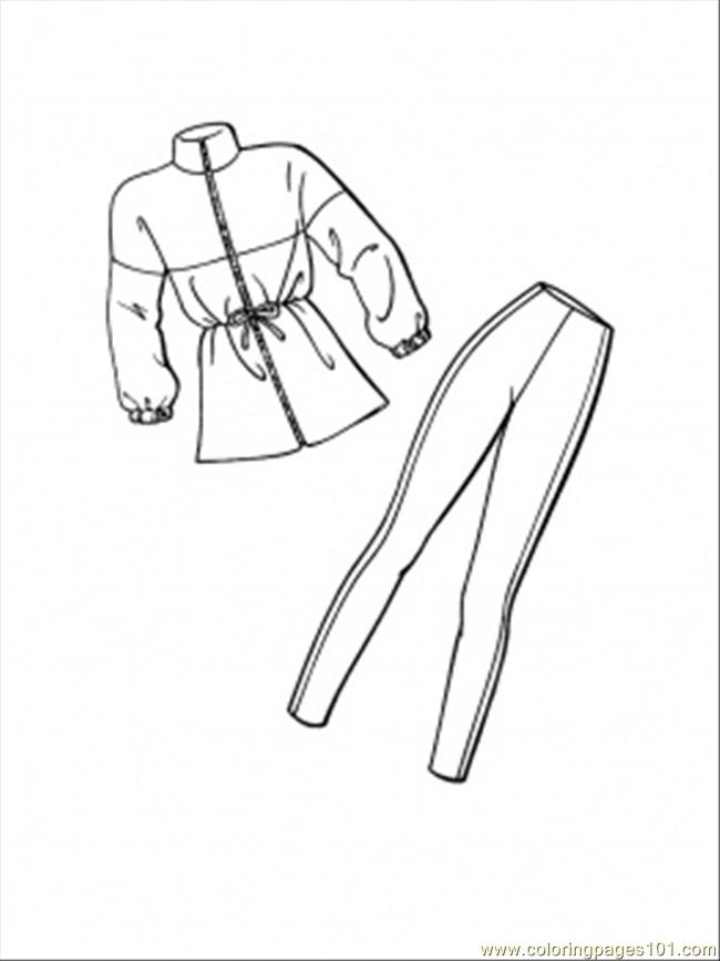 Costume For Winter Coloring Page