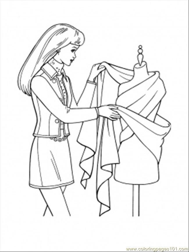 designing dress coloring page