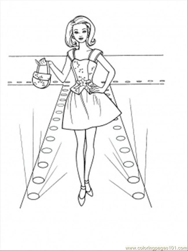 Fashion Show Coloring Page