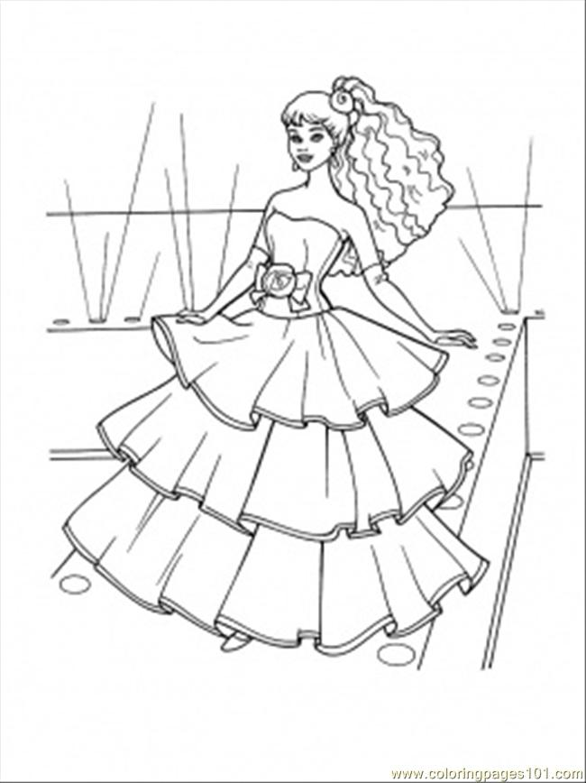 Flamenco Dress Coloring Page
