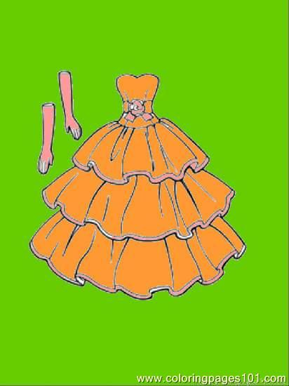 This Dress Goes With Gloves Coloring Page