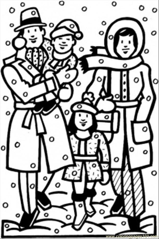 Winter Time Coloring Page