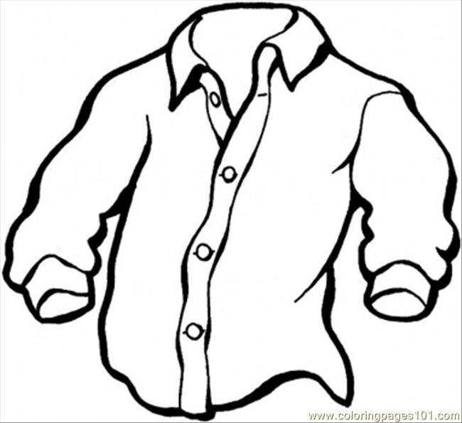 Manly Shirt Coloring Page Free