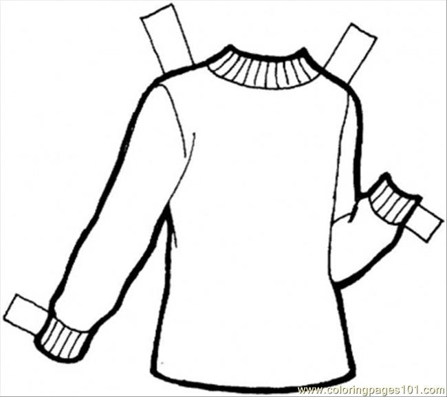 Pullover Coloring Page Free Clothing Coloring Pages