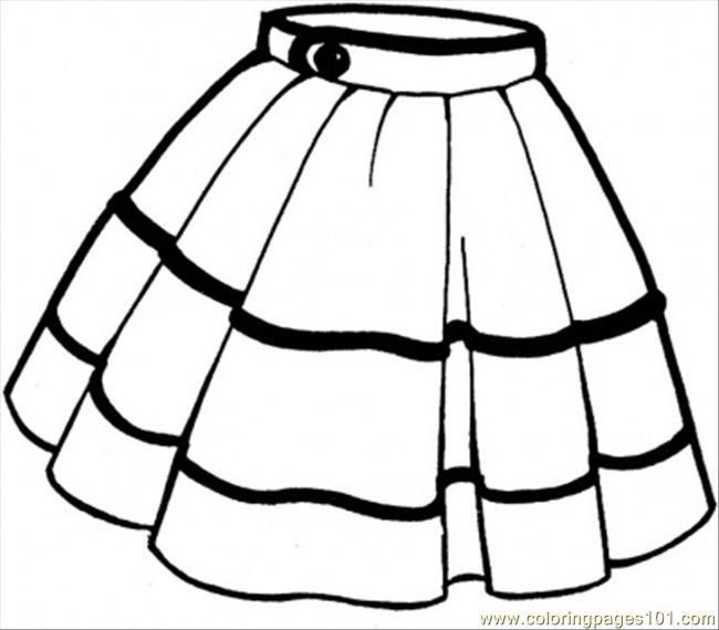 Skirt Coloring Page Free Clothing Coloring Pages
