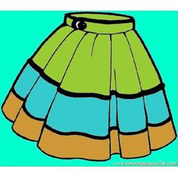 Skirt Free Coloring Page for Kids