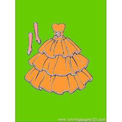 This Dress Goes With Gloves Free Coloring Page for Kids