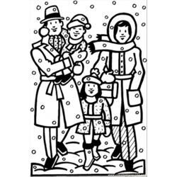 Winter Time Free Coloring Page for Kids