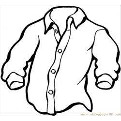 Manly Shirt coloring page