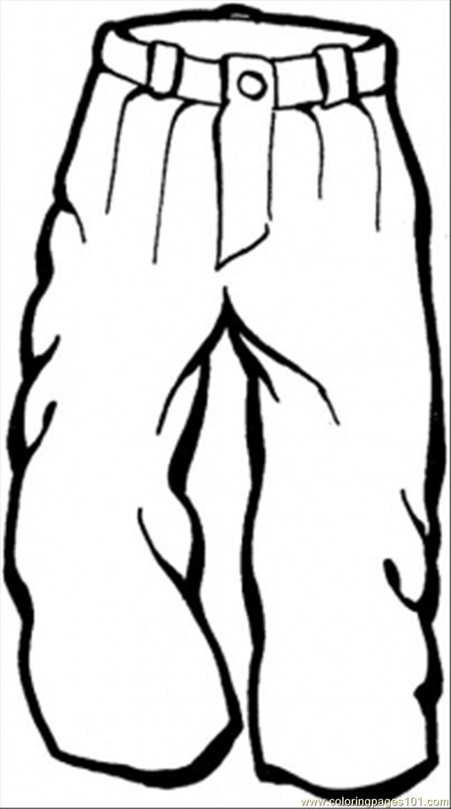 It's just a picture of Versatile Pants Coloring Page