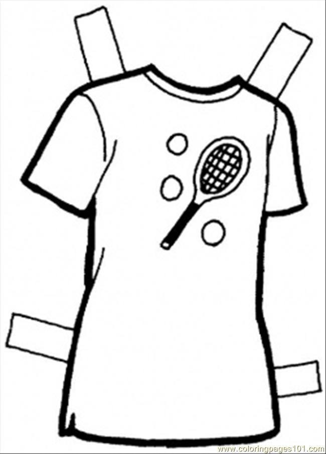 T Shirt Coloring Page Free Clothing
