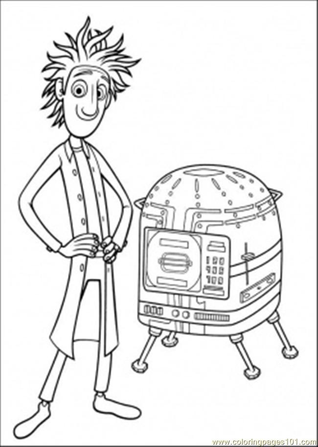 flint with his invention coloring page
