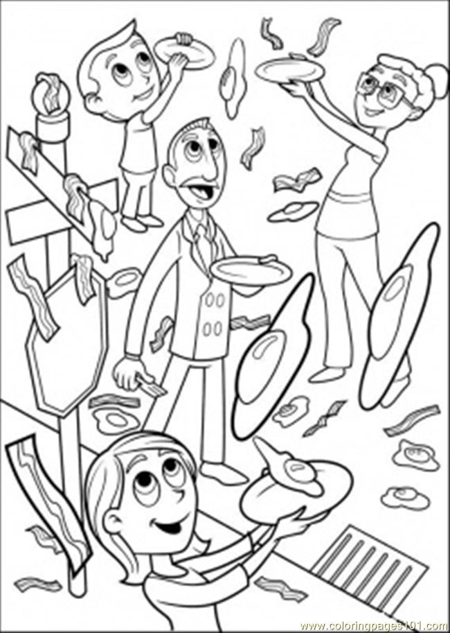 Sandwiches Coloring Page