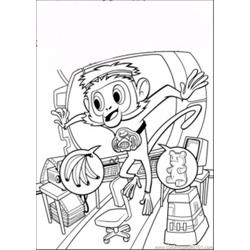 Steve The Monkey coloring page