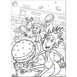 Lots Of Food Free Coloring Page for Kids