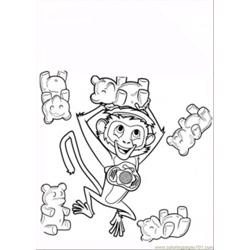 Pet Monkey coloring page