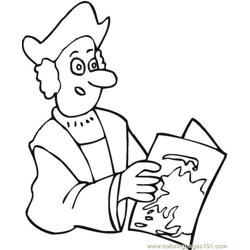Columbus (11) coloring page