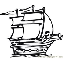 Columbus (3) coloring page