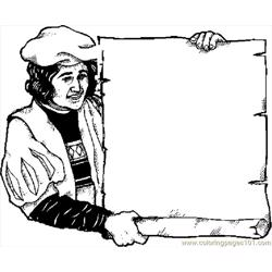 Columbus With Scroll