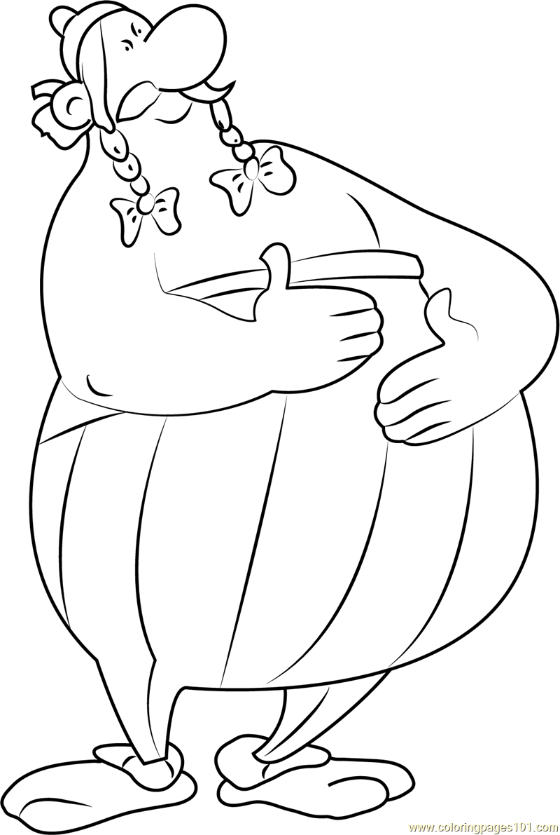 Big Obelix Coloring Page Free