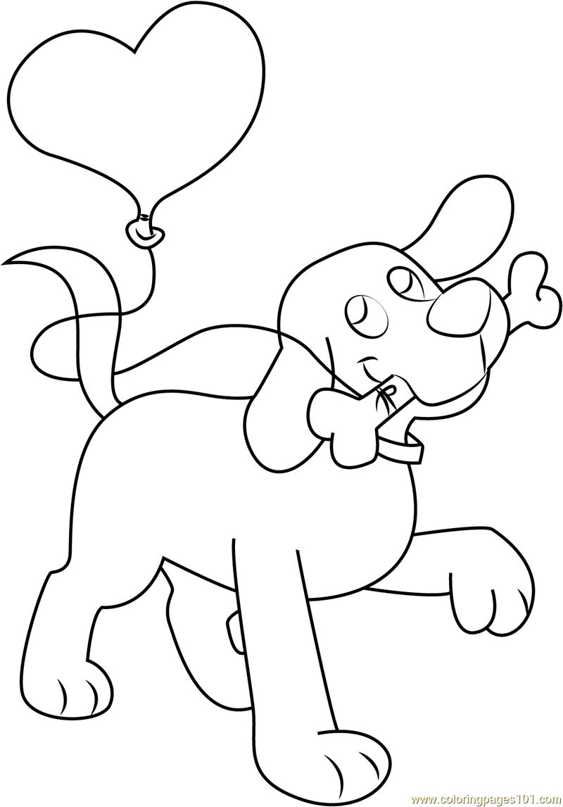 Puppy Clifford Coloring Pages