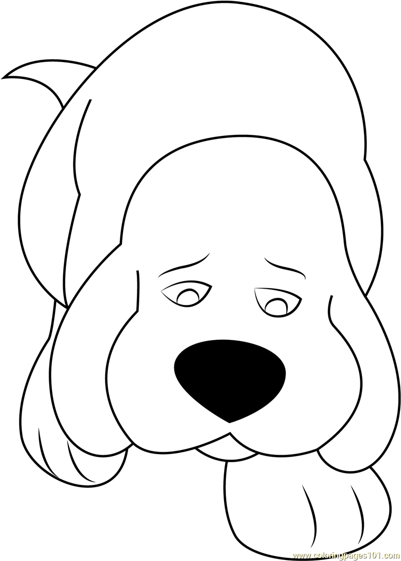 Sad Clifford Coloring Page - Free Clifford the Big Red Dog Coloring ...