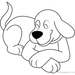 Clifford Dog Sitting Free Coloring Page for Kids
