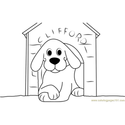 Clifford Dog in Home coloring page