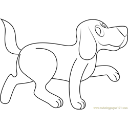 Clifford Walking Free Coloring Page for Kids