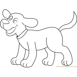 Happy Clifford Free Coloring Page for Kids