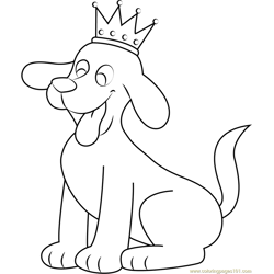 King Clifford Free Coloring Page for Kids