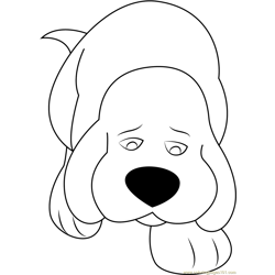 Sad Clifford Free Coloring Page for Kids