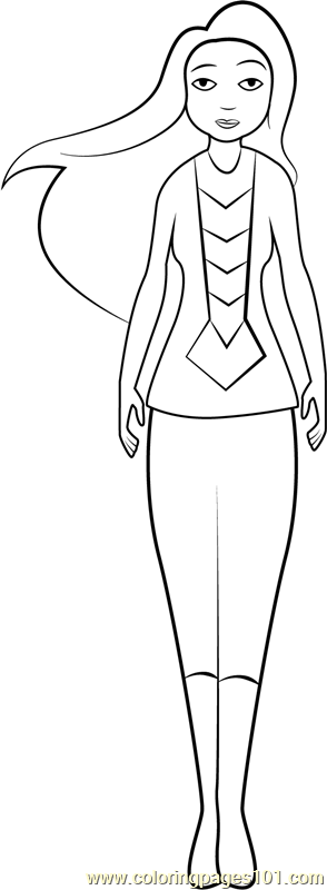 Miss Martian Coloring Page Free Dc Super Hero Girls Coloring