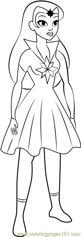 Star Sapphire Coloring Page