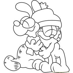 Garfield hugs Odie