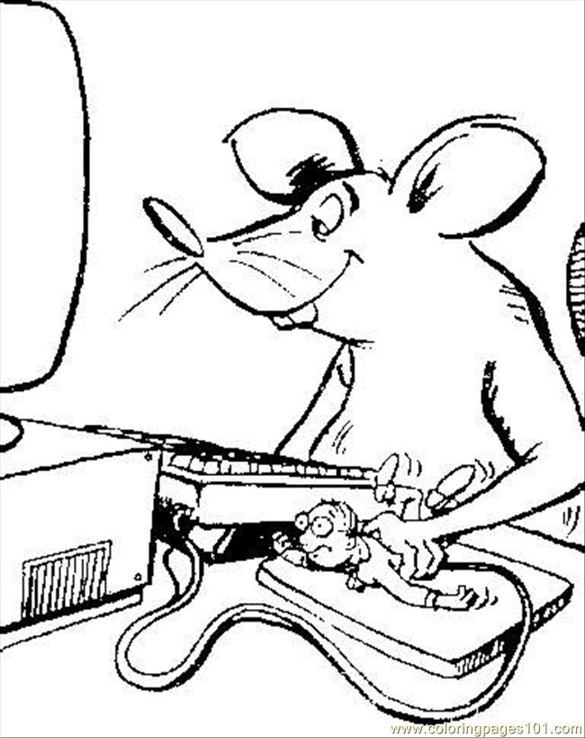 21 Computer Mouse 12063 Coloring Page