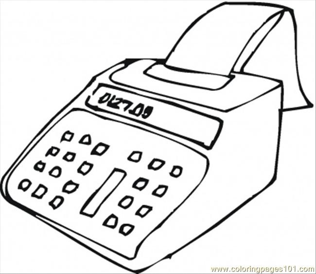 Big Calculator Coloring Page Free Computer Coloring