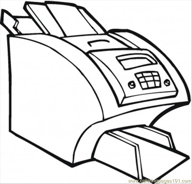 Big Printer For The Office Coloring Page Free Computer