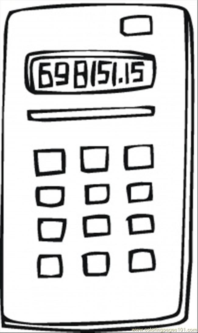 Calculating Numbers Coloring Page