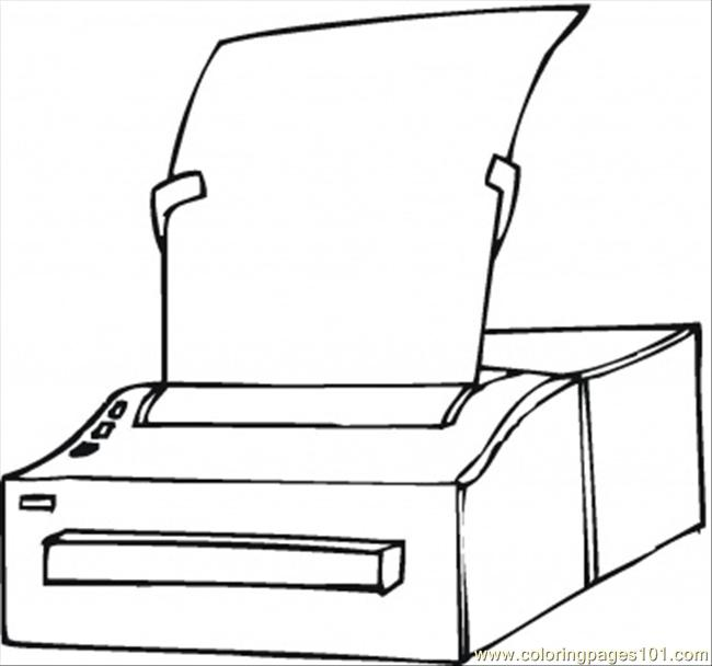 Printer Coloring Page - Free Computer Coloring Pages ...