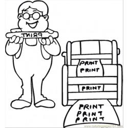 Print The Documents Free Coloring Page for Kids