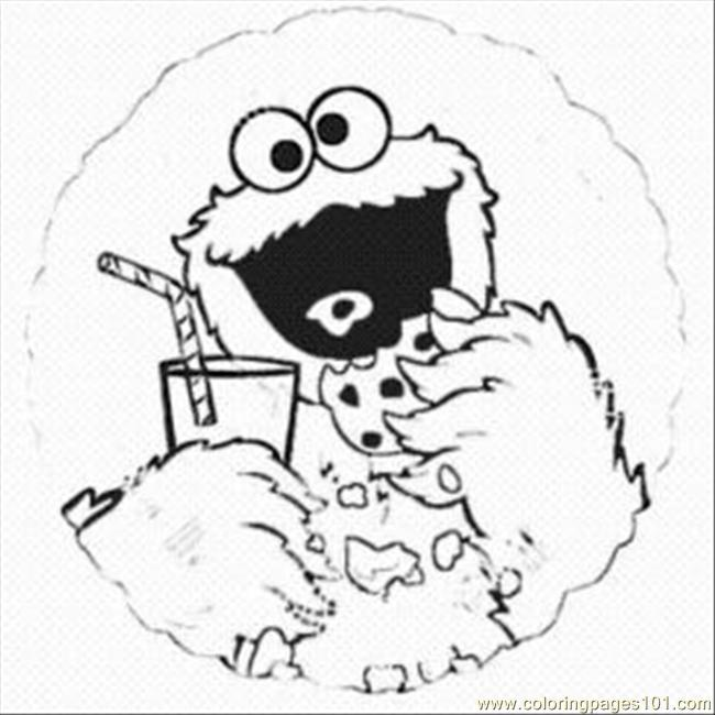Cookie Monste10 Coloring Page