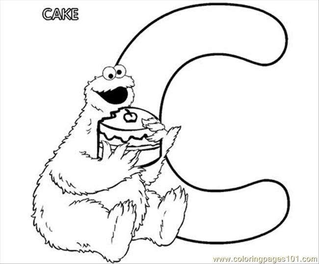 Cookie Monste Coloring Page Free Cookie Monster Coloring Pages
