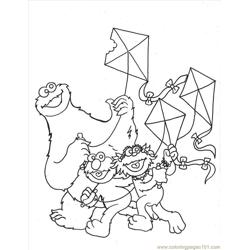 Cookie Monste12l coloring page