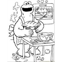 Cookie Monste13 coloring page
