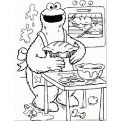Cookie Monste6 coloring page