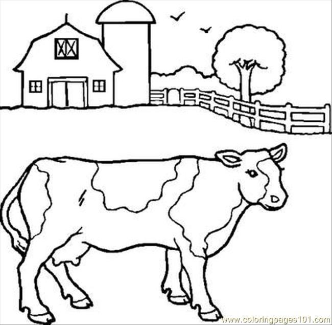 Cow%2 Coloring Page - Free Cow Coloring Pages : ColoringPages101.com