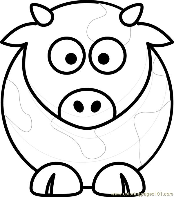 Cow Coloring Page - Free Cow Coloring Pages : ColoringPages101.com