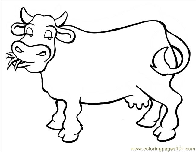 Cow big coloring page